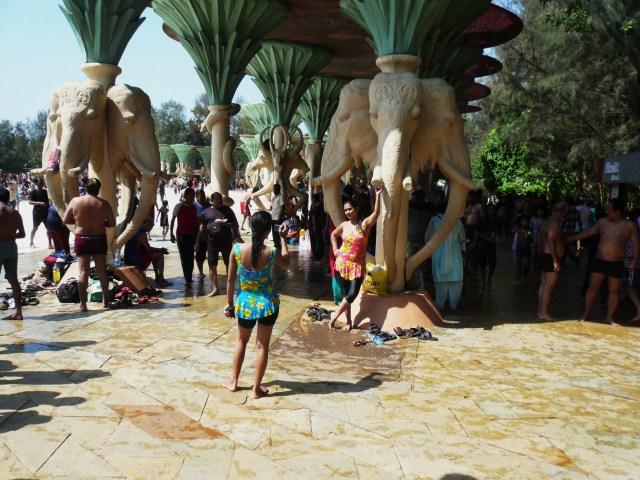 Columns Elephants Snakes Water Kingdom Mumbai India
